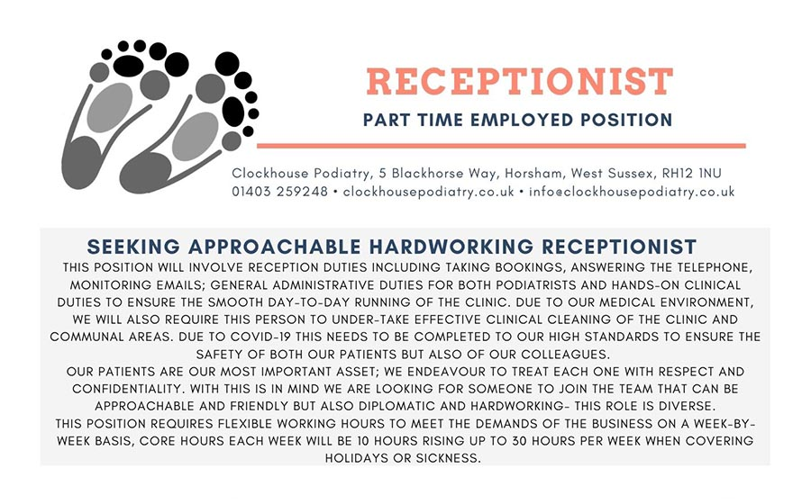 Clockhouse Podiatry - Chiropodist & Podiatry   Physiotherapy ...